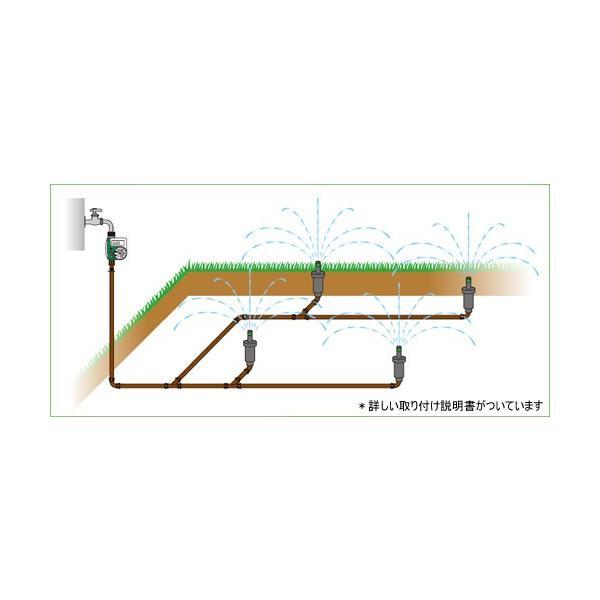 芝生用自動散水キット 散水時のみ地表に表れ散水する!