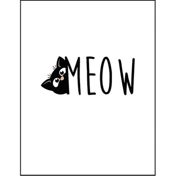 【にゃー・猫・ねこ・シルエット】ポストカード