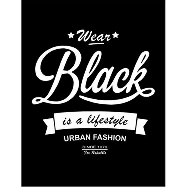 【「 ブラックを着るのがライフスタイル」】ポストカード 黒背景