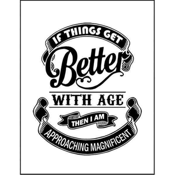 【歳を重ねるほどいい人生になるのなら私は素晴らしい人生に近づいている】ポストカード
