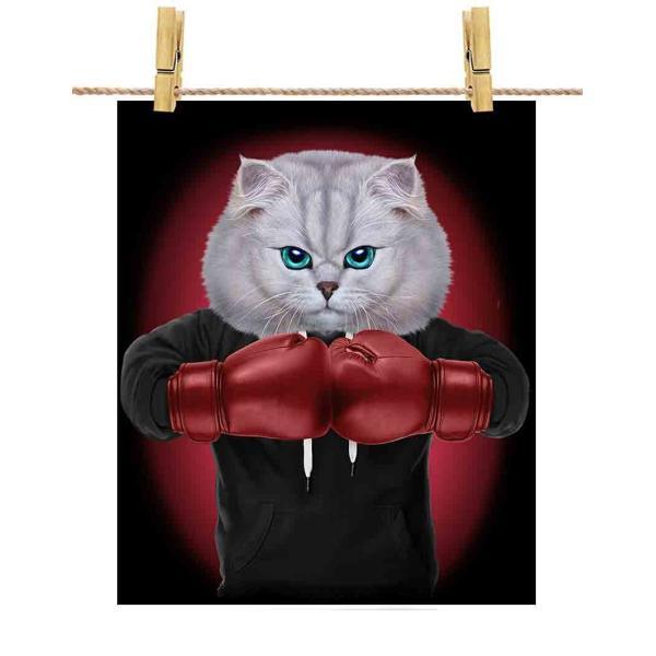 【ペルシャ猫 ねこ ボクシング チャンピオン】ポストカード by Fox Republic