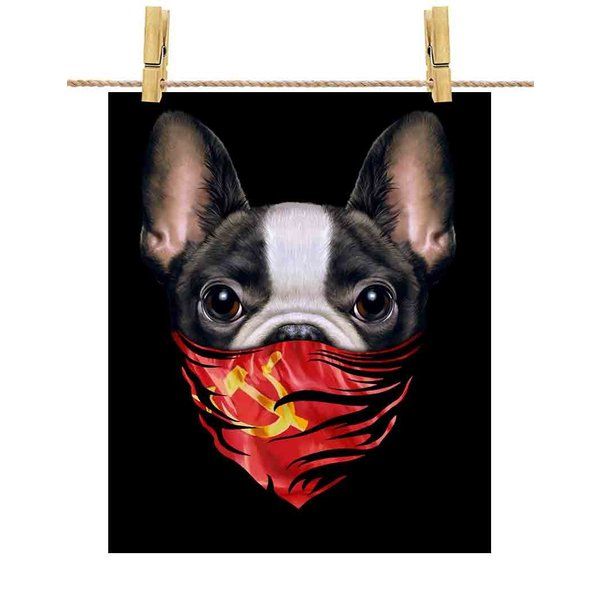 【かわいい フレンチブルドッグ ドッグ 犬 いぬ ソビエト連邦 バンダナ】ポストカード by Fox Republic