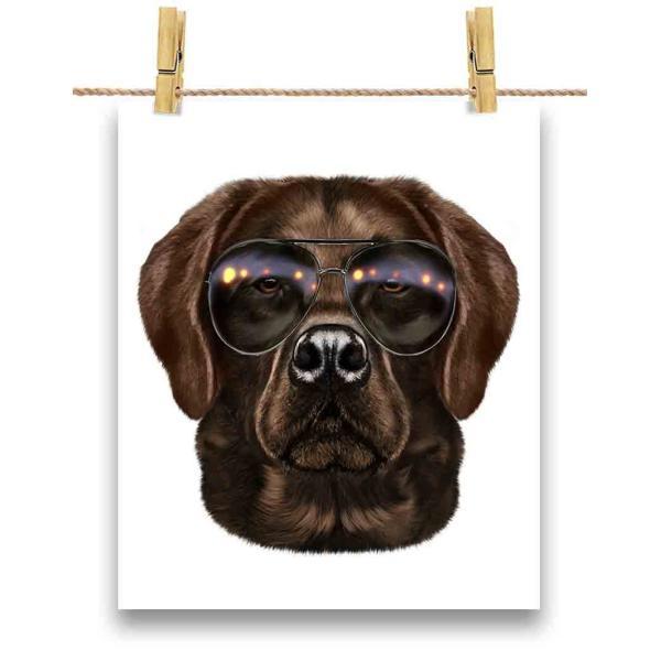 【茶毛 ラブラドルレトリバー ドッグ 犬 いぬ サングラス】ポストカード by Fox Republic