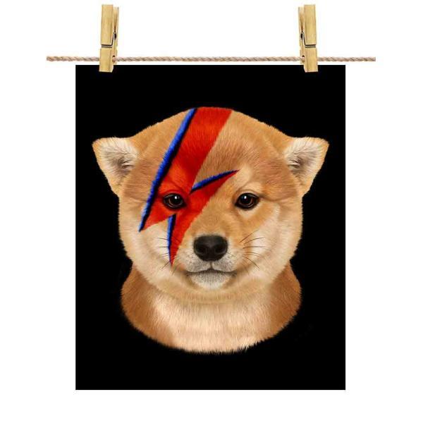 【仔犬の 柴犬 ドッグ 犬 いぬ 稲妻 マーク】ポストカード by Fox Republic