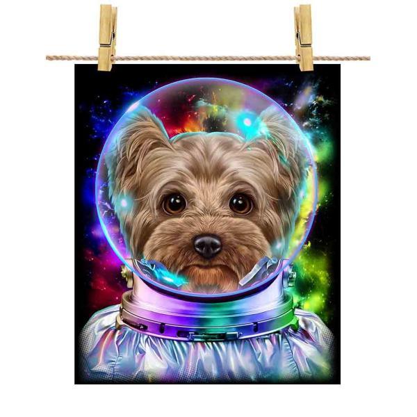 【ヨークシャテリア ドッグ 犬 いぬ 宇宙 飛行士 銀河系】ポストカード by Fox Republic