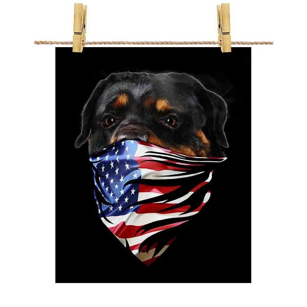 【ロットワイヤー バンダナ 星条旗 いぬ 犬】ポストカード by Fox Republic