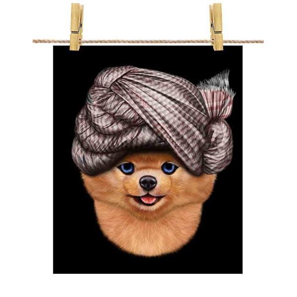 【ポメラニアン ドッグ 犬 いぬ ターバン】ポストカード by Fox Republic