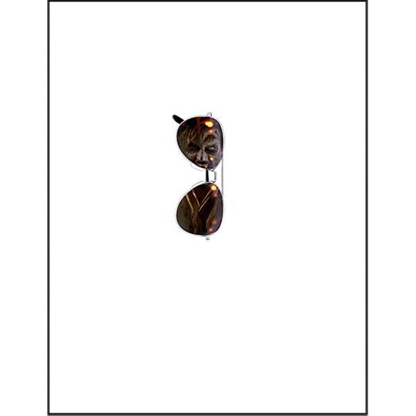 【ゾンビが写ったサングラス・だまし絵】ポストカード