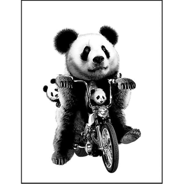 【バイクにのるパンダ】ポストカード