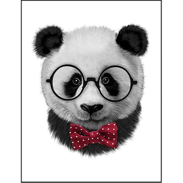 【おたくメガネをかけたパンダ】ポストカード