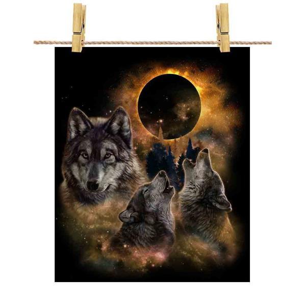【月 と オオカミ 狼 森】ポストカード by Fox Republic