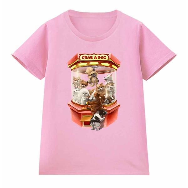 【犬 の クレーンゲーム UFOキャッチャー ゲーム いぬ】レディース 半袖 Tシャツ by Fox Republic