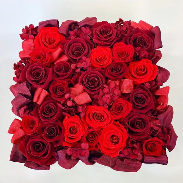 高級プリザーブドローズ「Red rose BOX」|fran-frower-arrange
