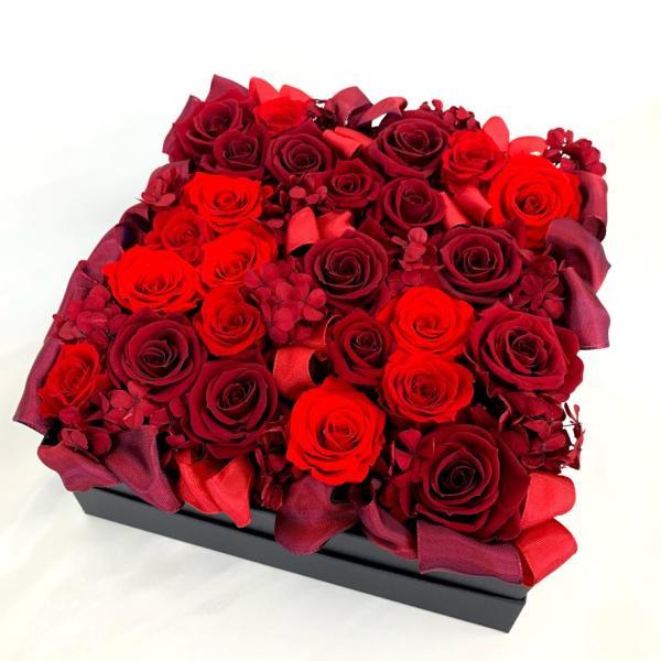 高級プリザーブドローズ「Red rose BOX」|fran-frower-arrange|02