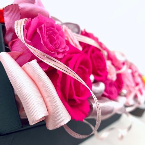 高級プリザーブドローズ「Gorgeous pink」 fran-frower-arrange