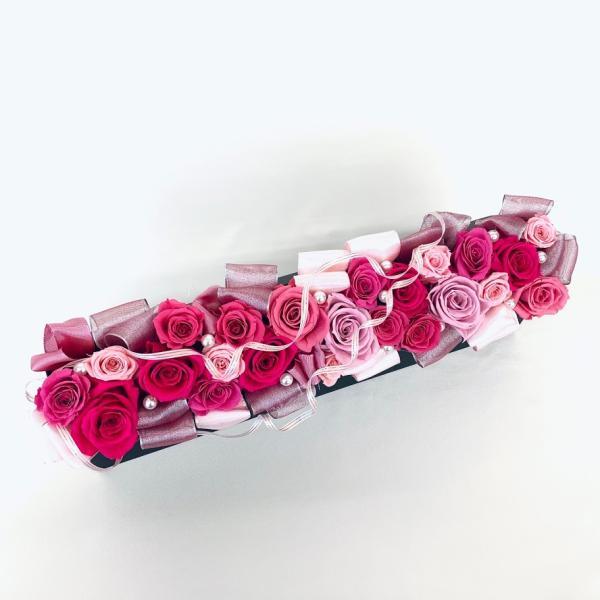 高級プリザーブドローズ「Gorgeous pink」 fran-frower-arrange 02