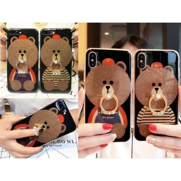 iPhone XR ケース カバー  iphoneXs Max iPhone XR iphoneXiphone7 8 iphone6sスマホケース カバー 熊リング付きアイフォンケース 携帯ケース|francekids|02