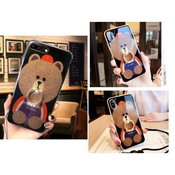 iPhone XR ケース カバー  iphoneXs Max iPhone XR iphoneXiphone7 8 iphone6sスマホケース カバー 熊リング付きアイフォンケース 携帯ケース|francekids|03
