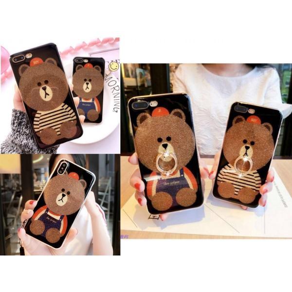 iPhone XR ケース カバー  iphoneXs Max iPhone XR iphoneXiphone7 8 iphone6sスマホケース カバー 熊リング付きアイフォンケース 携帯ケース|francekids|06