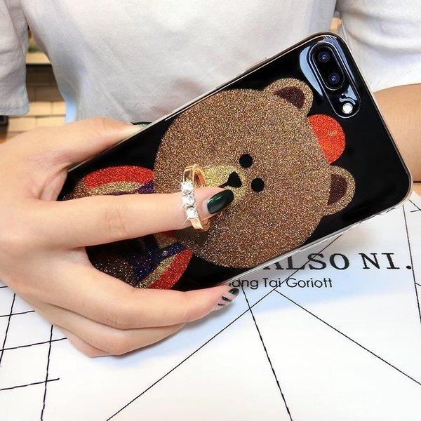 iPhone XR ケース カバー  iphoneXs Max iPhone XR iphoneXiphone7 8 iphone6sスマホケース カバー 熊リング付きアイフォンケース 携帯ケース|francekids|09