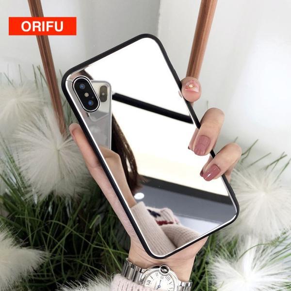 アイフォンケース iPhoneケース ハート ミラー 鏡面加工 光沢 黒縁 ブラック iPhoneX iPhone8 iPhone7 iPhone6 iPhone6plus 高級感 スマホケース  送料無料|francekids