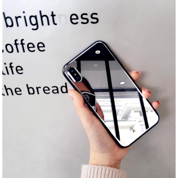 アイフォンケース iPhoneケース ハート ミラー 鏡面加工 光沢 黒縁 ブラック iPhoneX iPhone8 iPhone7 iPhone6 iPhone6plus 高級感 スマホケース  送料無料|francekids|11