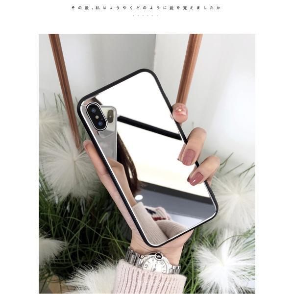 アイフォンケース iPhoneケース ハート ミラー 鏡面加工 光沢 黒縁 ブラック iPhoneX iPhone8 iPhone7 iPhone6 iPhone6plus 高級感 スマホケース  送料無料|francekids|12