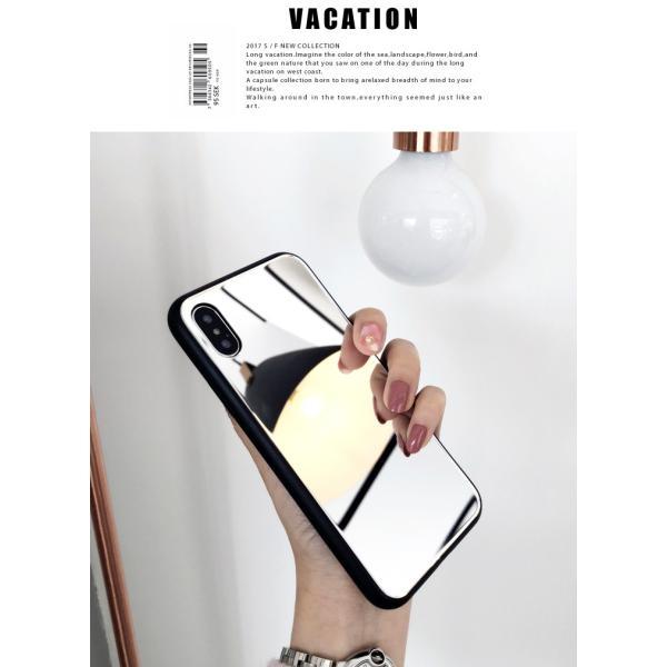 アイフォンケース iPhoneケース ハート ミラー 鏡面加工 光沢 黒縁 ブラック iPhoneX iPhone8 iPhone7 iPhone6 iPhone6plus 高級感 スマホケース  送料無料|francekids|13