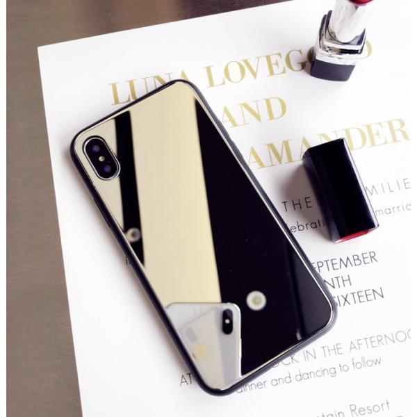アイフォンケース iPhoneケース ハート ミラー 鏡面加工 光沢 黒縁 ブラック iPhoneX iPhone8 iPhone7 iPhone6 iPhone6plus 高級感 スマホケース  送料無料|francekids|15
