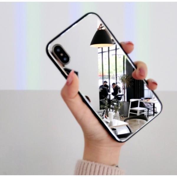 アイフォンケース iPhoneケース ハート ミラー 鏡面加工 光沢 黒縁 ブラック iPhoneX iPhone8 iPhone7 iPhone6 iPhone6plus 高級感 スマホケース  送料無料|francekids|17
