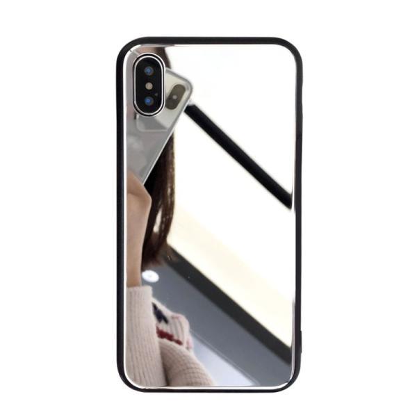 アイフォンケース iPhoneケース ハート ミラー 鏡面加工 光沢 黒縁 ブラック iPhoneX iPhone8 iPhone7 iPhone6 iPhone6plus 高級感 スマホケース  送料無料|francekids|04
