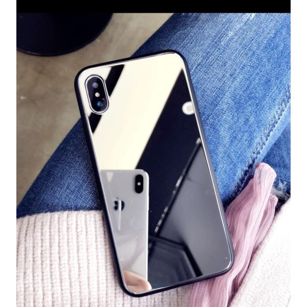 アイフォンケース iPhoneケース ハート ミラー 鏡面加工 光沢 黒縁 ブラック iPhoneX iPhone8 iPhone7 iPhone6 iPhone6plus 高級感 スマホケース  送料無料|francekids|09
