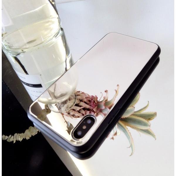 アイフォンケース iPhoneケース ハート ミラー 鏡面加工 光沢 黒縁 ブラック iPhoneX iPhone8 iPhone7 iPhone6 iPhone6plus 高級感 スマホケース  送料無料|francekids|10