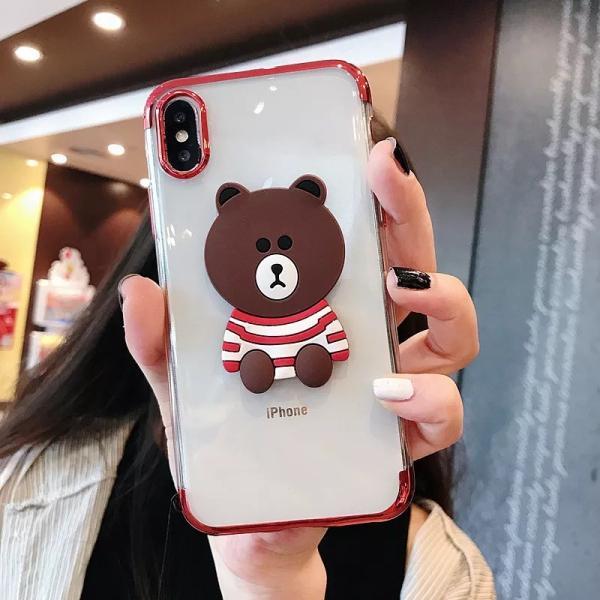 iPhonexs Maxケース iphoneXR iPhone8 Plus ケース カバー iphoneXiphone7 iphone6sスマホケース カバー熊シリコン光沢アイフォンソフトケース|francekids|03