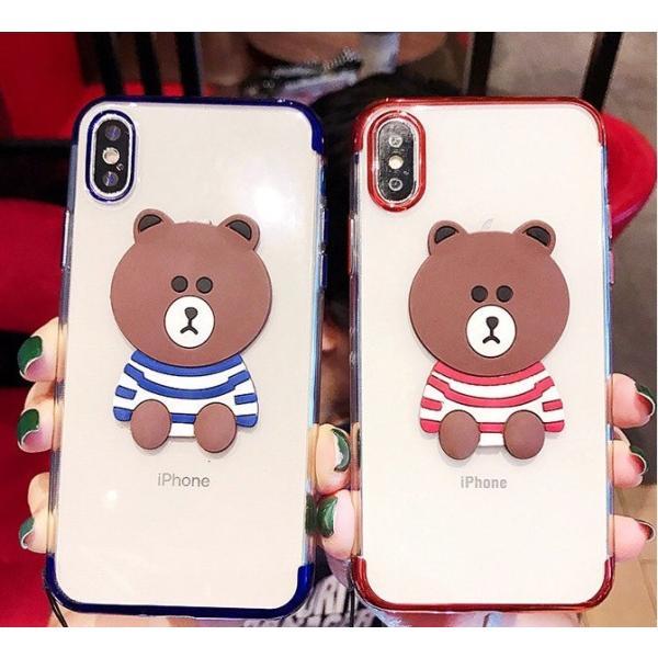 iPhonexs Maxケース iphoneXR iPhone8 Plus ケース カバー iphoneXiphone7 iphone6sスマホケース カバー熊シリコン光沢アイフォンソフトケース|francekids|06