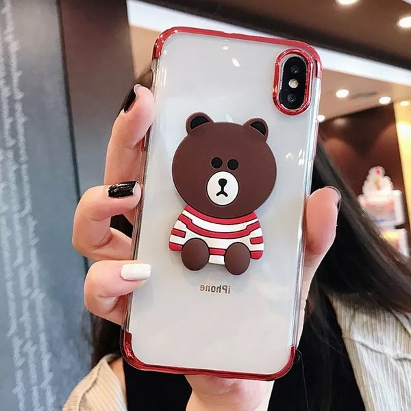 iPhonexs Maxケース iphoneXR iPhone8 Plus ケース カバー iphoneXiphone7 iphone6sスマホケース カバー熊シリコン光沢アイフォンソフトケース|francekids|07