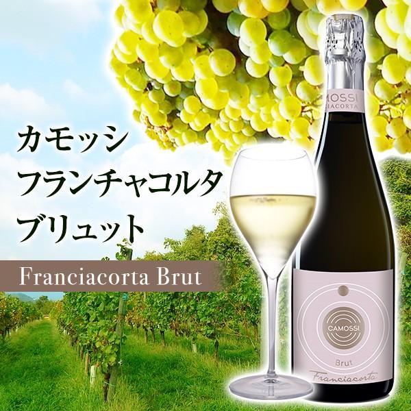 イタリア最高級スパークリングワイン フランチャコルタ ブリュット / カモッシ 750ml [辛口] 自然派ワイン 持続性のあるクリーミーな泡立ち|franciacorta