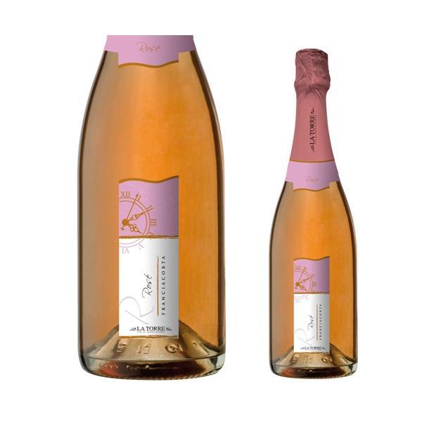 女性へのプレゼントに最適 イタリア最高級スパークリングワイン フランチャコルタ ロゼ / ラ・トッレ 750ml|franciacorta|02