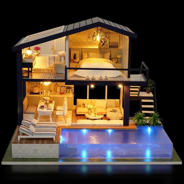 ドールハウス 手作りキットセットミニチュア Time Apartment t-FREAK|freak-dollhouse