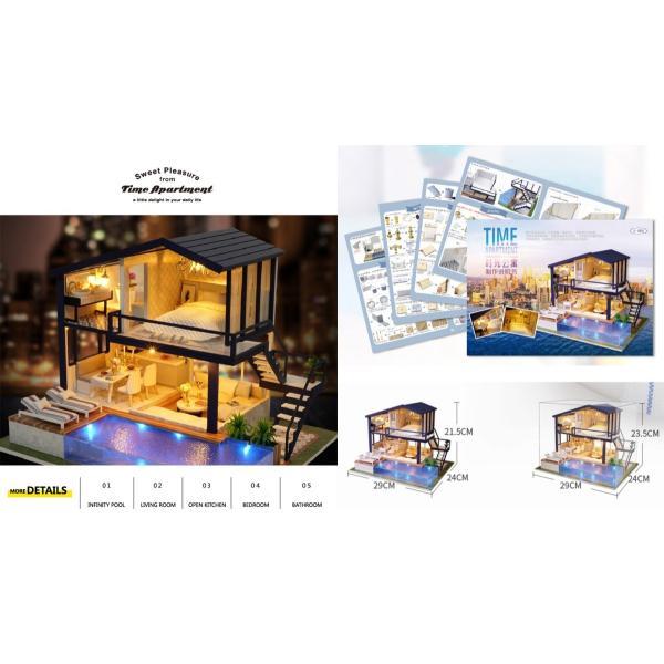 ドールハウス 手作りキットセットミニチュア Time Apartment t-FREAK|freak-dollhouse|02