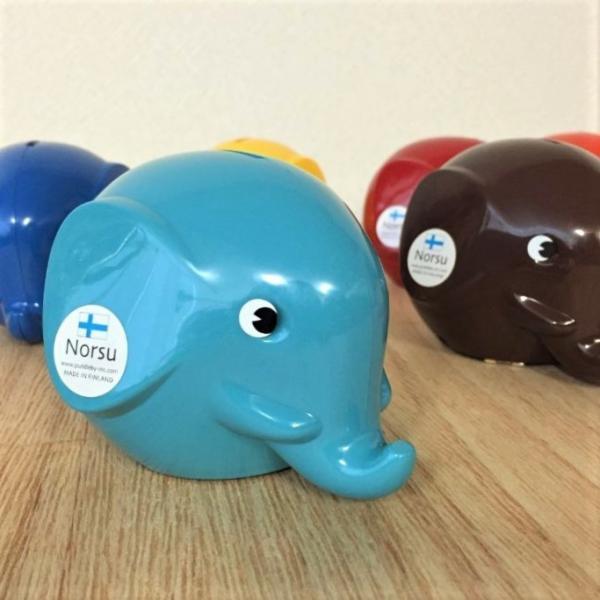 送料無料【Norsu】北欧雑貨 フィンランドの貯金箱 エレファントバンク 可愛い象の貯金箱 カラフル 8色 Sサイズ|free-style|04