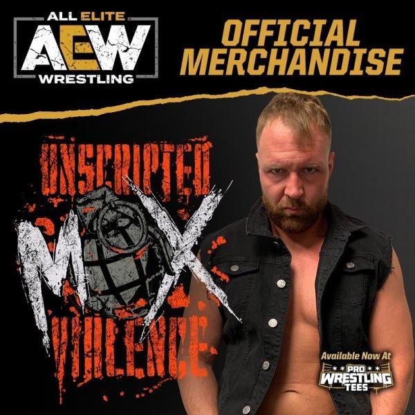 AEW(オール・エリート・レスリング) Tシャツ「All Elite Wrestling ジョン・モクスリー JON MOXLEY Unscripted Violence Tシャツ」|freebirds|03