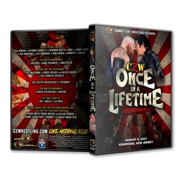 CZW DVD「Once In A Lifetime」(2017年8月5日ニュージャージー)【大仁田厚 対 マット・トレモント ノーロープ有刺鉄線電流爆破バットデスマッチ】|freebirds