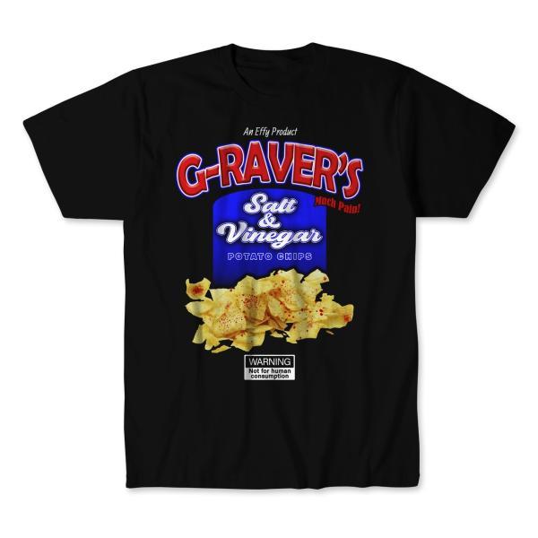 G-RAVER Gレイバー Tシャツ「G-RAVER Salt & Vinegar Chips ポテトチップス Tシャツ Imported from D.M.W.W.」 米直輸入デスマッチTシャツ《日本未発売品》