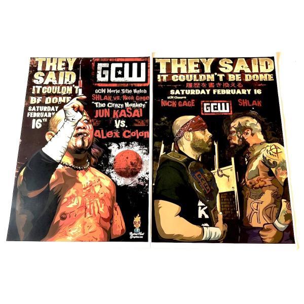 GCW 11×17ミニポスター「GCW 2・16 ニック・ゲイジ vs. シュラク ミニポスター(28センチ×44センチ)」アメリカ直輸入プロレスポスター|freebirds|02