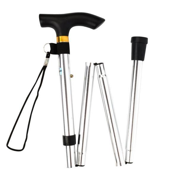 折りたたみ 杖 軽量 折りたたみ杖 男性 女性 ステッキ コンパクト アルミ 長さ 5段階調節 伸縮型 ゴム脚 携帯 歩行支援 高齢者 介護 全6色|freeduck2|11