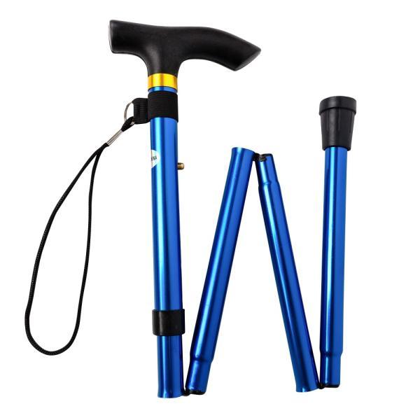 折りたたみ 杖 軽量 折りたたみ杖 男性 女性 ステッキ コンパクト アルミ 長さ 5段階調節 伸縮型 ゴム脚 携帯 歩行支援 高齢者 介護 全6色|freeduck2|14