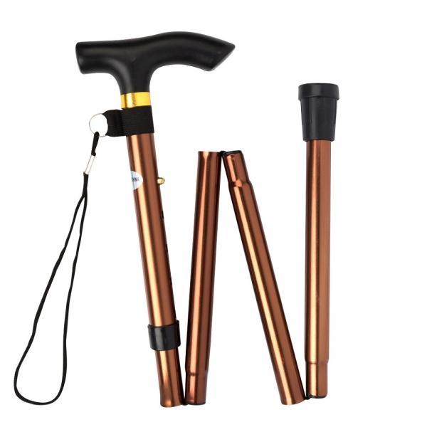 折りたたみ 杖 軽量 折りたたみ杖 男性 女性 ステッキ コンパクト アルミ 長さ 5段階調節 伸縮型 ゴム脚 携帯 歩行支援 高齢者 介護 全6色|freeduck2|10