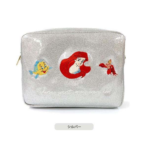 バッグ ミニバッグ ハンドバッグ ショルダーバッグ アコモデ accommode プレゼント ギフト ラメ加工 刺繍 ジャスミン アリエル アラジン リトル・マーメイド