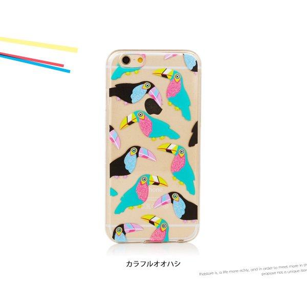 iPhone  iPhone6/6s スキニーディップ  SKINNYDIP Toucan カラフル オウム ケース カバー  シリコン アイフォーン メール便 送料無料 freekstore 04